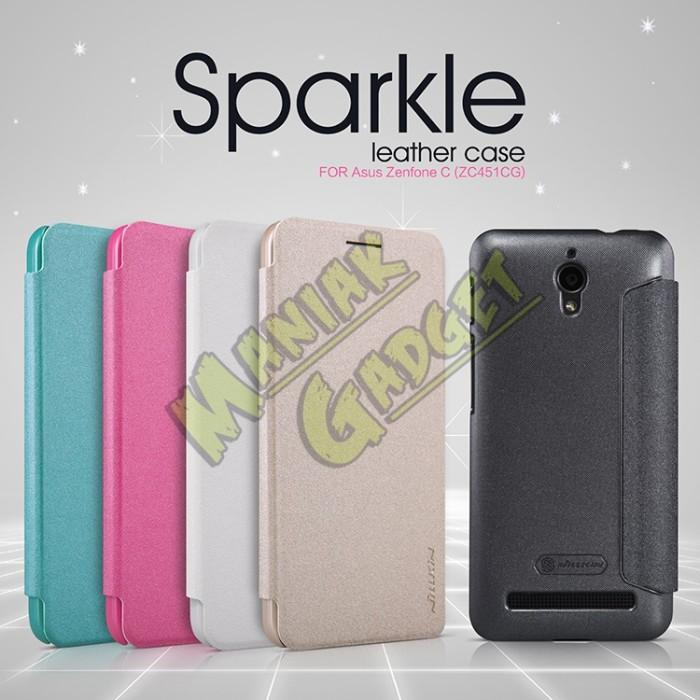 harga Jual flip leather case nillkin asus zenfone c zc451cg sparkle murah Tokopedia.com