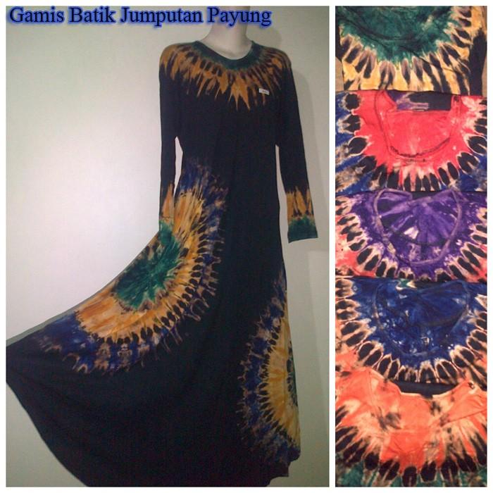 Jual Gamis Batik Jumputan Payung Model Baju Modernku Tokopedia