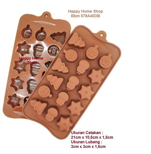 Cetakan jelly pudding es kue coklat puding motif pohon natal dll