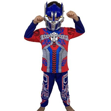 Kostum topeng superhero transformers optimus prime