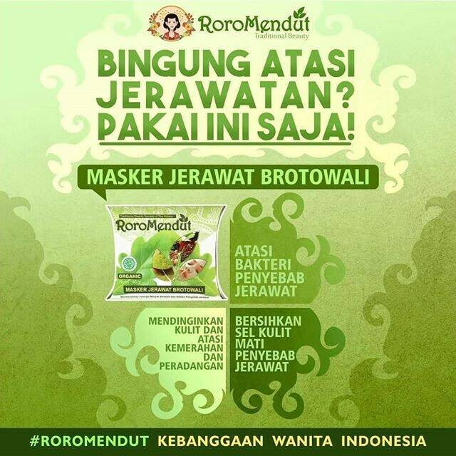 RORO MENDUT - Masker Jerawat Brotowali