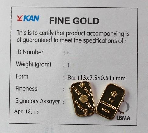 Jual Emas Antam 1 Gr Lm Logam Mulia Fine Gold 9999 Sertifikat