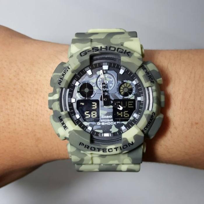Jual Jam tangan CASIO G-SHOCK GA-100 gshock ga100 army tentara ... 0e5faaf975