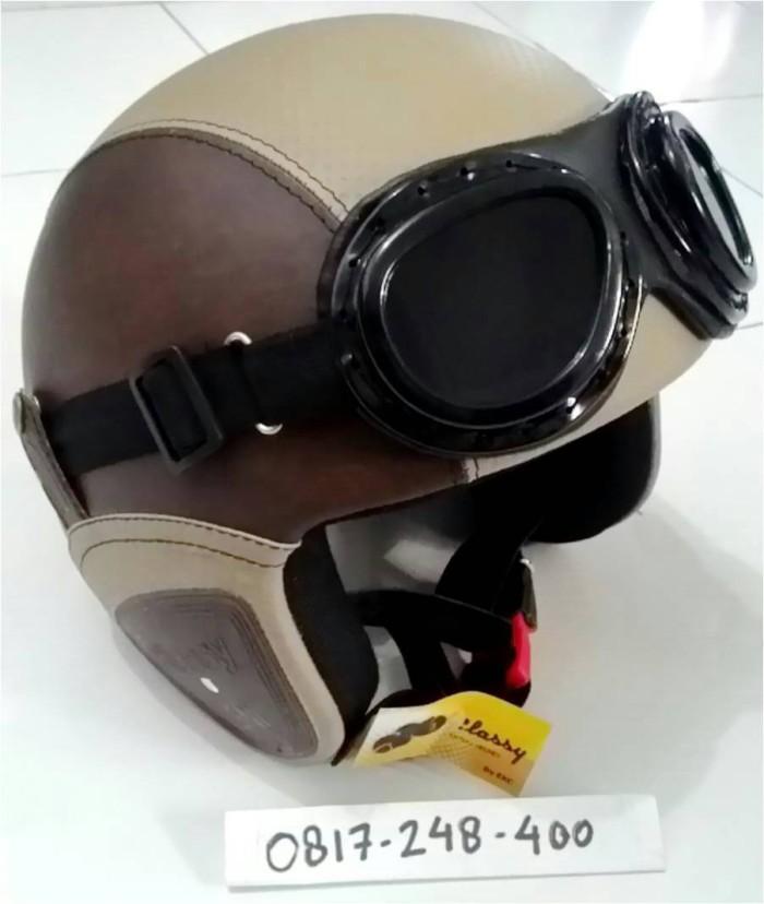 harga Helm retro classic trendy cocok untuk vespa, cb , custom motorcycle Tokopedia.com