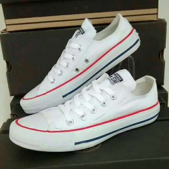 Jual sepatu converse all star low grade ori putih white - verdians ... c780892fe6