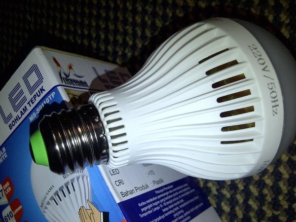 Lampu led sensor tepuk | bohlam led sensor suara 10 watt ...