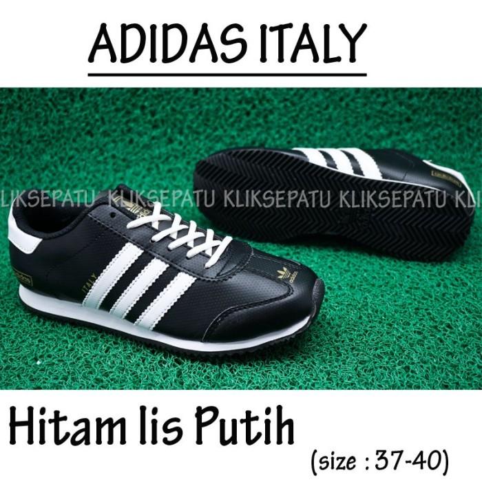 Sepatu Casual  Sepatu Adidas   Sepatu Adidas Italy Hitam Lis Putih 3c483e0b01