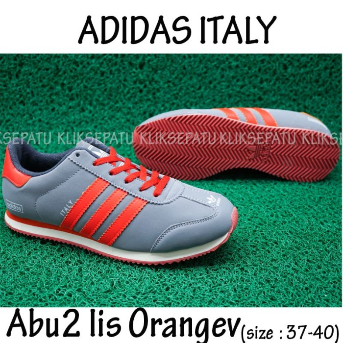 Jual Sepatu Casual  Sepatu Adidas   Sepatu Adidas Italy Abu2 Orange ... a6899863ec