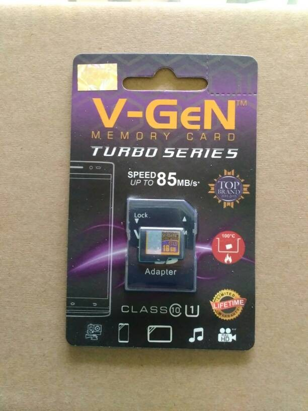 MICRO SD V GEN 16GB TURBO SERIES CLASS 10 WITH ADAPTER