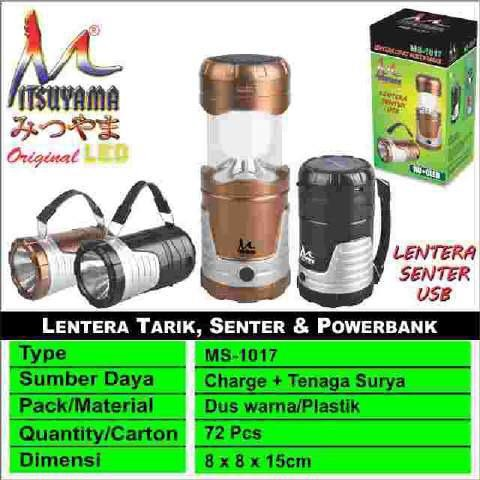 harga Emergency lentera tarik powerbank solar cell led mitsuyama ms-1017 Tokopedia.com