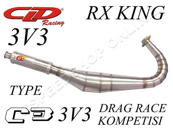 harga Knalpot cld racing rx king type c3 dragrace/kompetisi/3v3 Tokopedia.com