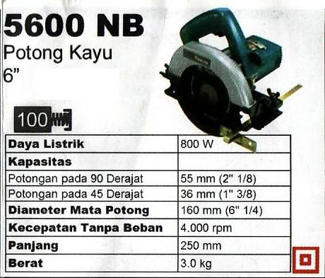 harga Makita 5600nb mesin circular saw 6 -1/4 inch gergaji potong kayu Tokopedia.com