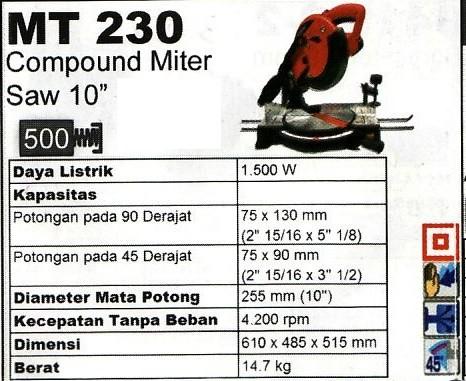 harga Maktec mt230 mesin gergaji mitre saw potong almunium adu manis Tokopedia.com