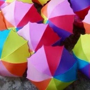 Payung lipat pelangi merk loko