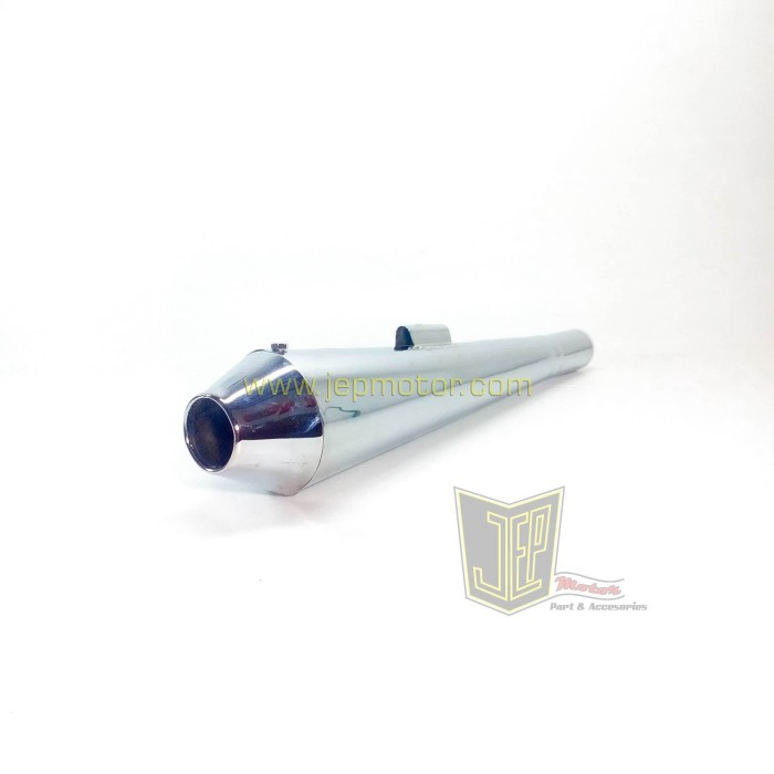 harga Knalpot japstyle rudal pendek krom pernakel Tokopedia.com