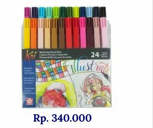 harga Sakura koi brush pen xbr 24 warna Tokopedia.com