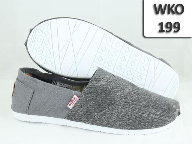 Jual WAKAI Shoes Pria Casual Flatshoes Sepatu Flat WKO-199 Grey Abu ... b0db686b8e