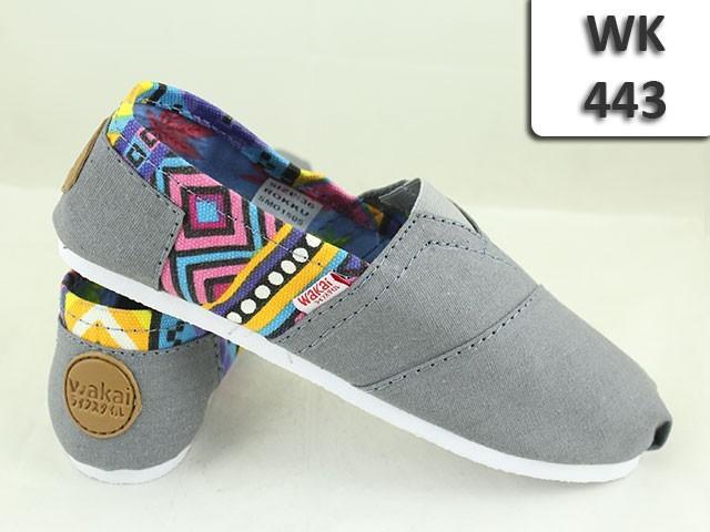 Jual WAKAI Shoes WK-443 WK443 Sepatu Casual Wanita 36-40 Flat Kanvas ... 94f4b26ec3