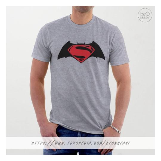 harga Kaos t-shirt abu misty batman vs superman symbol logo superhero Tokopedia.com