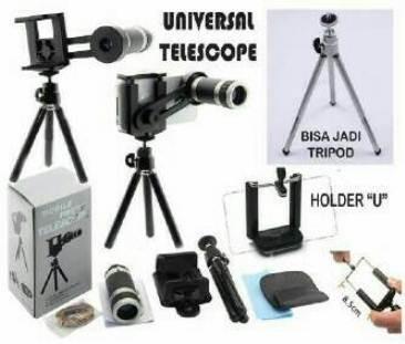 harga Lensa pembesar kamera hp 8x tele zoom paket tripod dan holder u medium Tokopedia.com