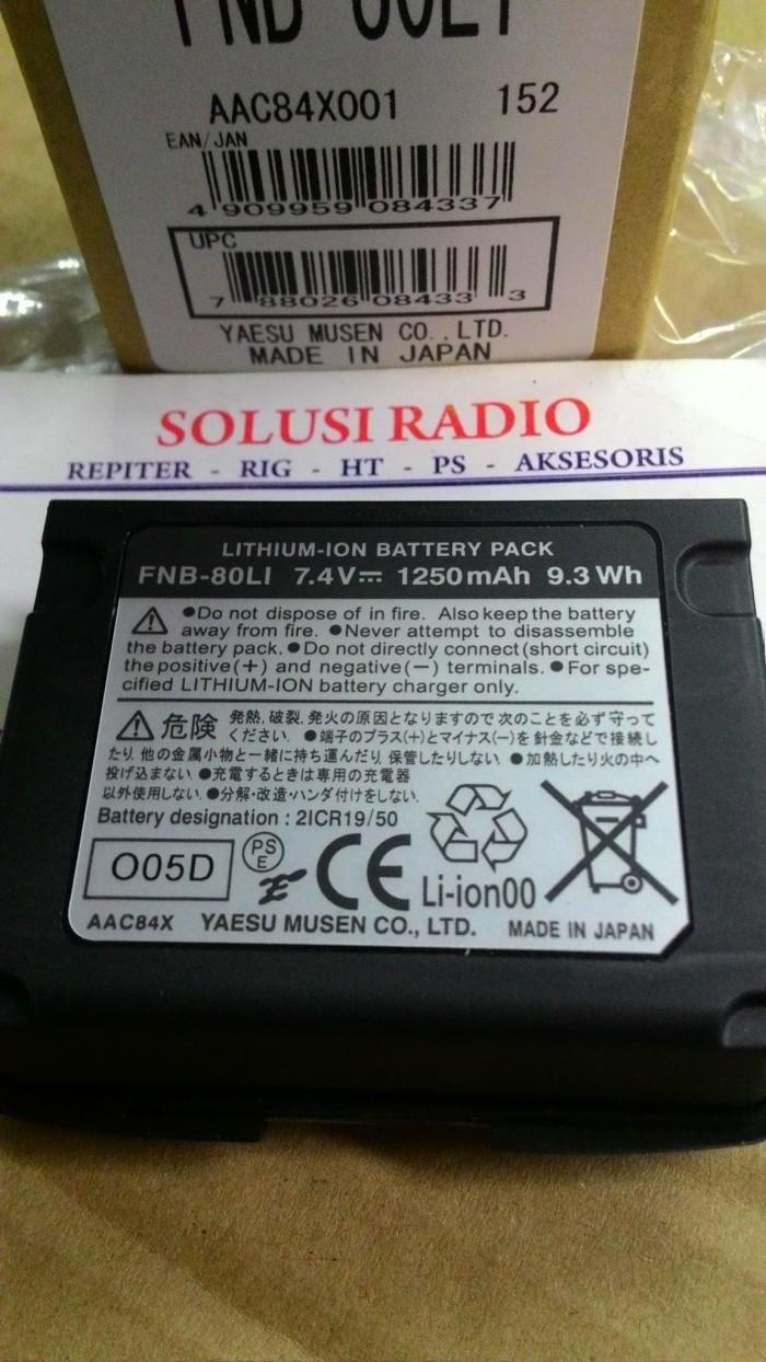 harga Baterai fnb-80li for yaesu vx-5r/6r/7r li-ion 1250 mah made in japan Tokopedia.com