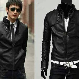 harga Jaket semi kulit keren pria model korea untuk bermotor dan ngantor Tokopedia.com