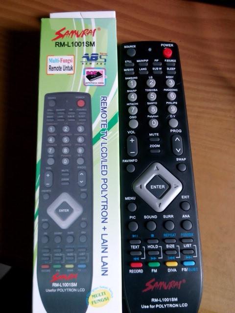harga Remote tv led lcd polytron multi langsung pakai Tokopedia.com