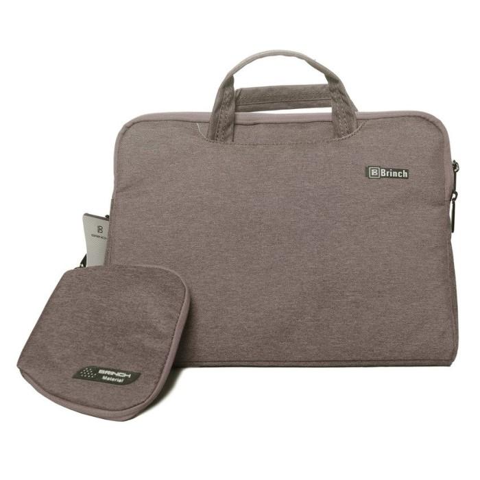 Sassyblu laptop bag 13' light brown brinch