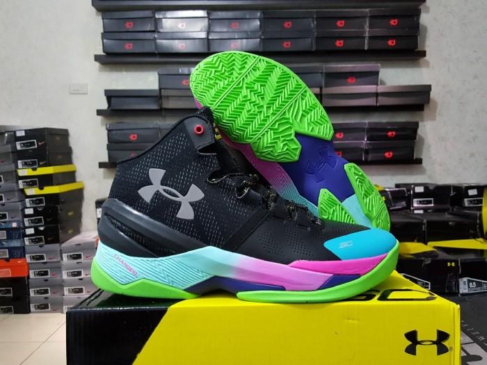 5bff373fad36 harga Sepatu basket under armour curry 2 black rainbow(grade ori  replika  im Tokopedia
