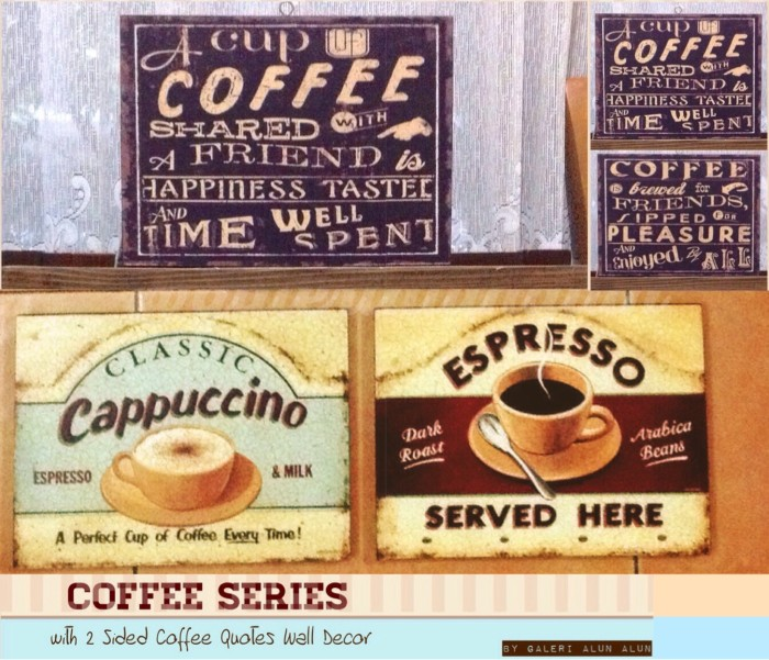 Hiasan dinding - wall decor coffee and coffee themed in pack