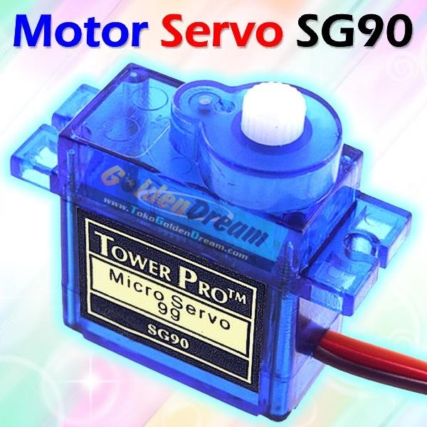 Foto Produk Motor Servo SG90 Tower Pro Micro 9g Mini include Accessories dari Golden Dream