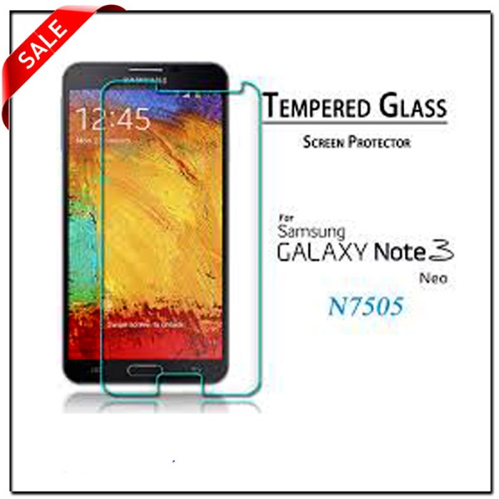 Samsung note 3 neo / sam n7505 screen protector tempered glass
