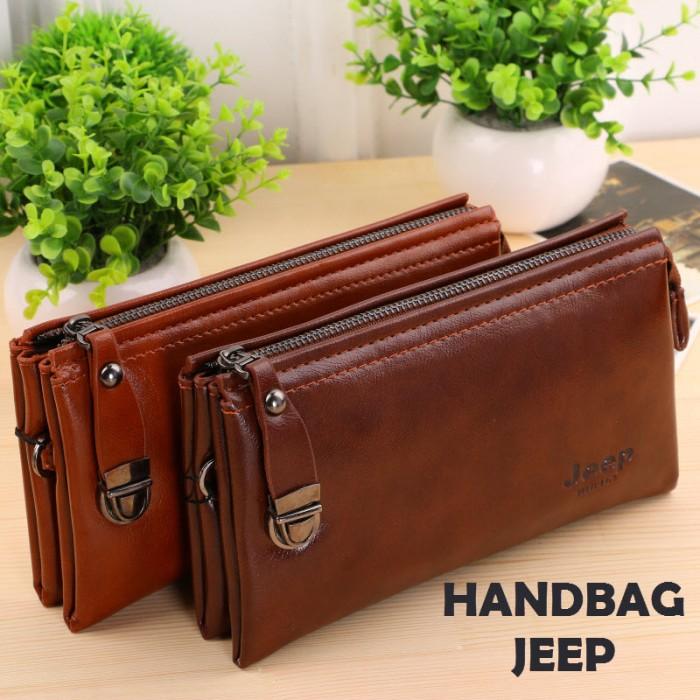 Hb1118 Handbag Pria Wanita Tas Tangan Jeep Dompet Clutch Bag