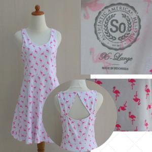 Foto Produk Dress motif flaminggo || original branded dari toko super murah