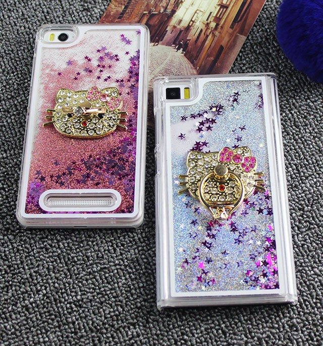 harga Xiaomi mi4i /mi4c aquarium glitter sand hardcase +blink kitty holder Tokopedia.com