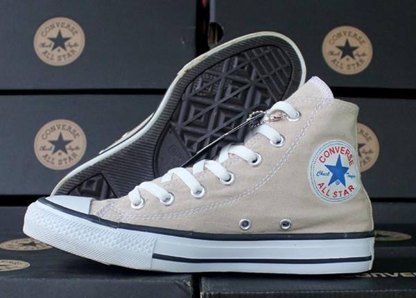 Jual sepatu Converse Allstar Cream Tinggi (keren 35b22d1142