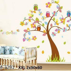 jual wallsticker pohon 120 x 180, stiker dinding murah - gudang