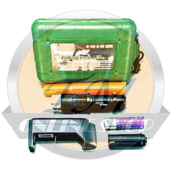 harga Senter police swat mini led zoom t6 powerstyle 5104 98000 watt + baterai recharge ultrafire 18650 + charger desktop + cone lalin Tokopedia.com