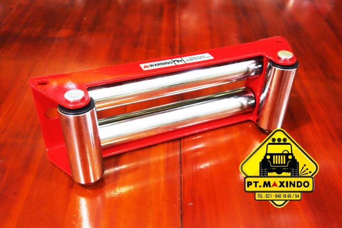 harga Runva red roller fairlead untuk tali sling baja winch Tokopedia.com
