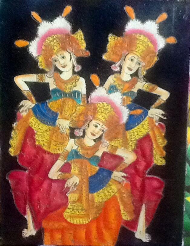 harga Lukisan 3 penari legong bali(bali dancer painting) 60x80 kanvas+kayu e Tokopedia.com