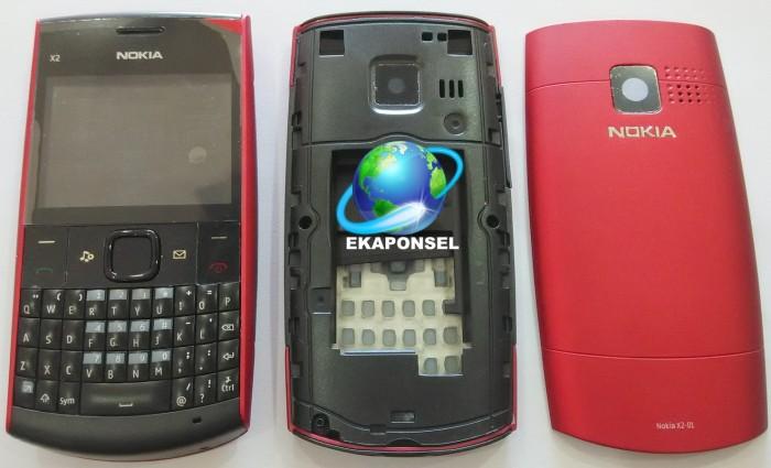 harga Nokia x2-01 casing  fullset+tulangan - red Tokopedia.com
