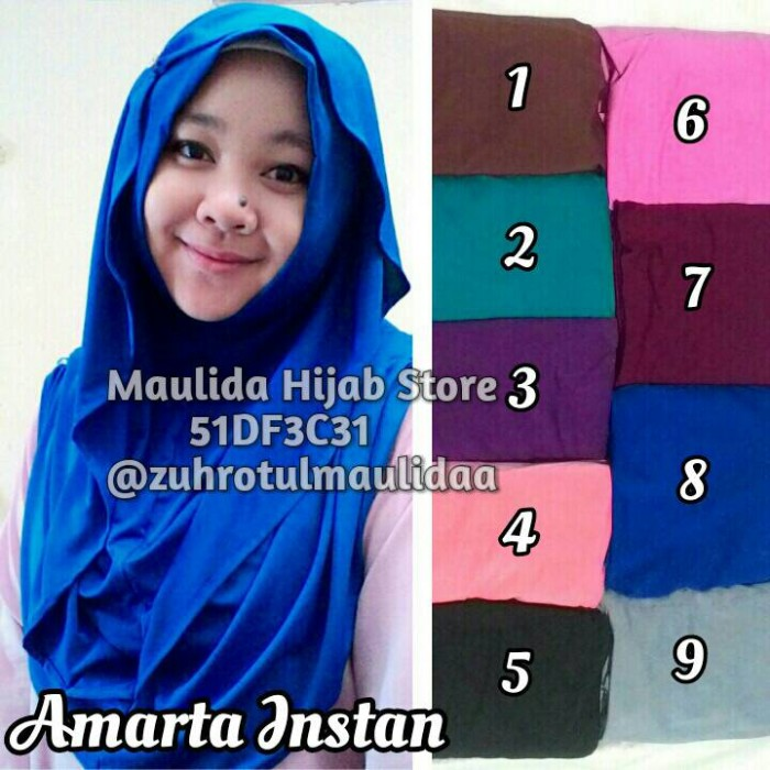 harga Amarta instan/ maulida hijab store/ jilbab hoodie /grosir hijab Tokopedia.com