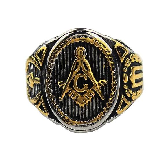 harga Freemason ring salomo temple logo gold iluminati ring masonic Tokopedia.com