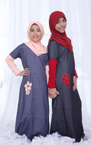 Jual Baju Muslim Gamis Anak Murah Bahan Kaos Ukhti Uk66 Raja Baju