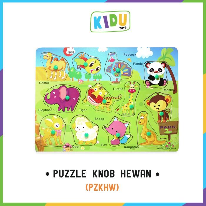 Foto Produk Mainan Anak Edukasi: Puzzle Knob Hewan dari Kidu Toys