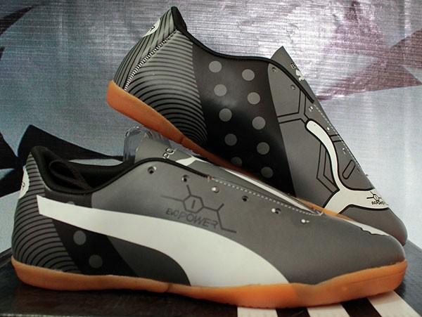 Jual Sepatu Futsal Puma Evo Power Abu Abu Hitam Anak Bola Nike