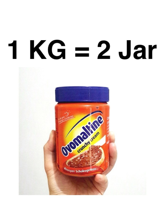 harga Ovomaltine crunchy cream (1 kg muat 2 jar) hemat ongkir ! ! ! Tokopedia.com