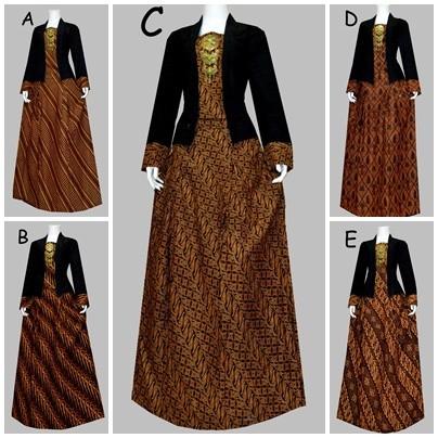 Jual 734150 Gamis Batik Kebaya Batik Baju Pesta Batik