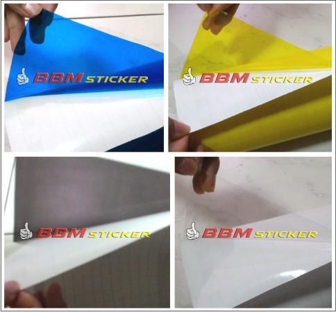 ... Jual Sticker Vinyl Transparan Warna Biru Kuning Hitam Putih Kota