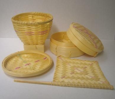 Mainan Tradisional Masakan Perabot Dapur Miniatur Anyam Bambu Unik